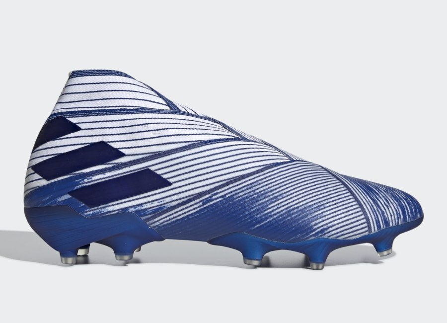 Adidas Nemeziz 19+ FG Mutator - Cloud White / Team Royal Blue / Team Royal Blue #adidasfootball #footballboots #adidassoccer