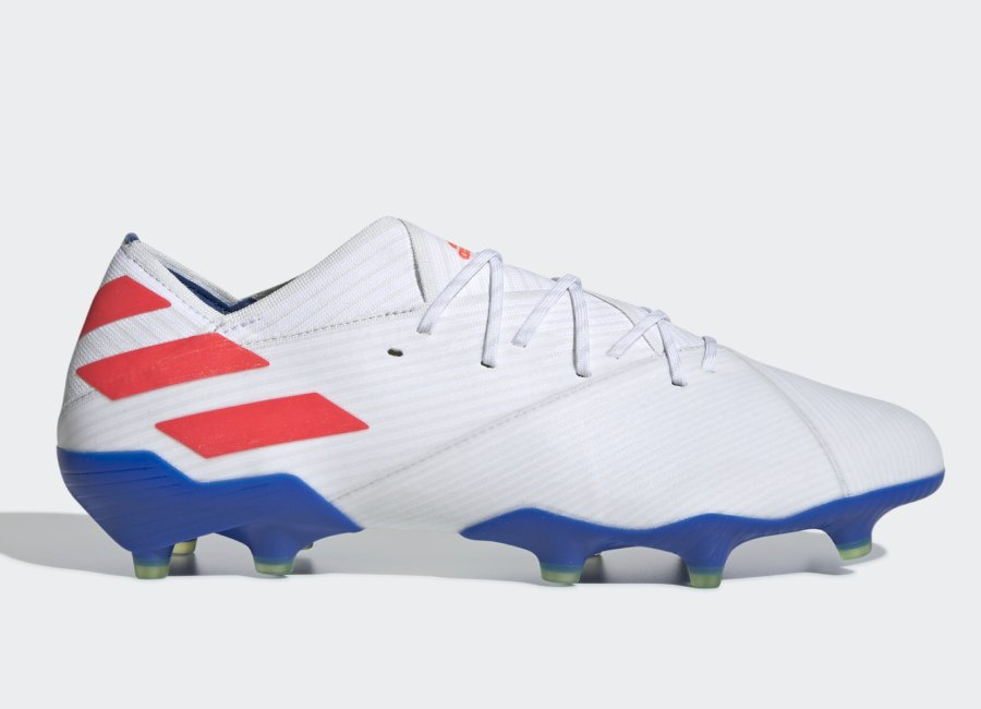 Adidas Nemeziz Messi 19.1 FG 302 Redirect - Ftwr White / Solar Red / Football Blue #adidasfootball #footballboots