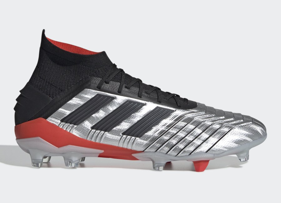 Adidas Predator 19.1 FG 302 Redirect - Silver Met / Core Black / Hi-Res Red #Adidasfootball #Footballboots #Adidassoccer