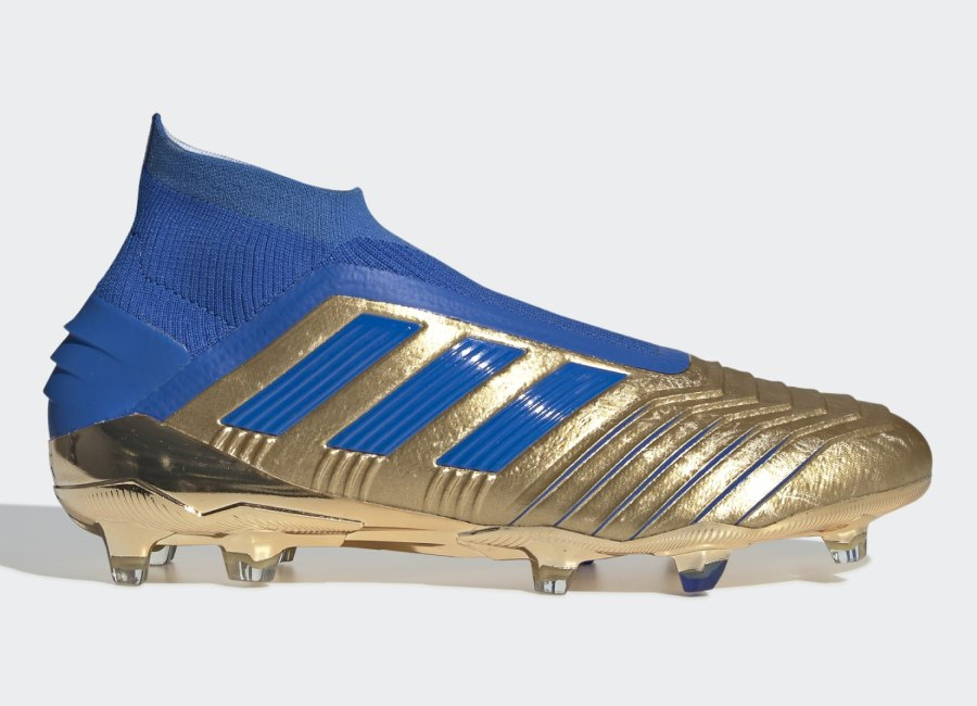 Adidas Predator 19+ FG Input Code - Gold Met / Football Blue / Cloud White #adidasfootball #footballboots #adidassoccer