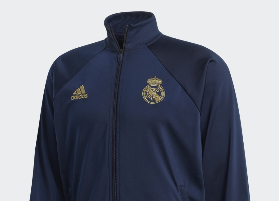 Adidas Real Madrid Icon Jacket - Night Indigo / Dark Football Gold #rmcf #realmadrid #adidasfootball