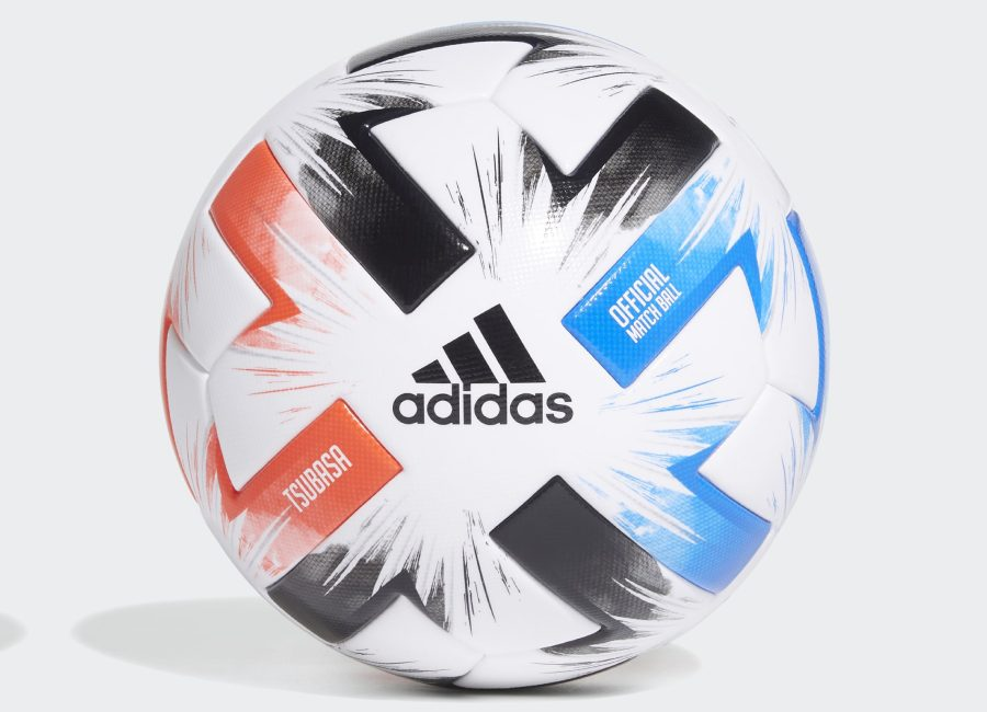 Adidas Tsubasa Pro Football - White / Solar Red / Glory Blue / Black #adidasfootball #AdidasTsubasa
