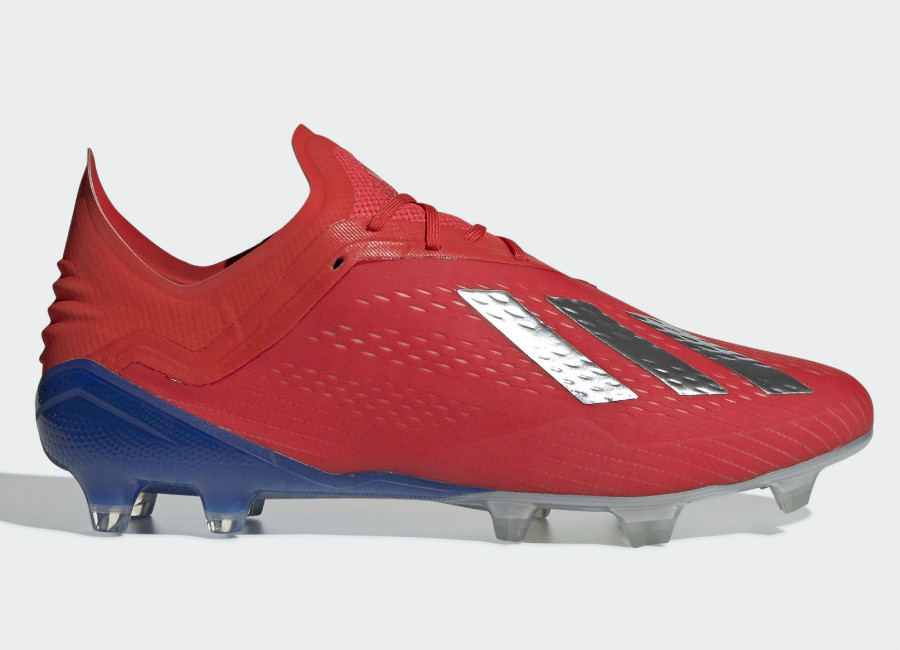 Adidas X 18.1 FG Exhibit - Active Red / Silver Met / Bold Blue #adidasfootball #footballboots