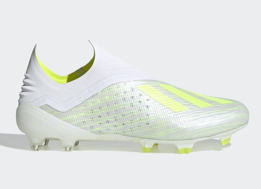 Adidas X 18+ Virtuso FG - Ftwr White / Solar Yellow / Off White #adidasfootball #footballboots #adidassoccer