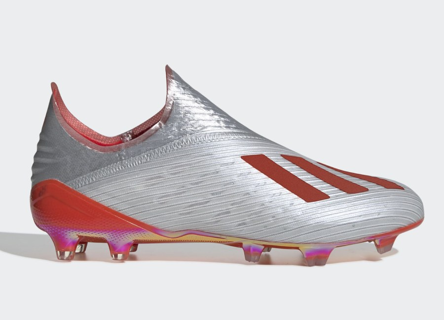 Adidas X 19+ FG 302 Redirect - Silver Met / Hi-Res Red / Ftwr White #Adidasfootball #Footballboots #Adidassoccer