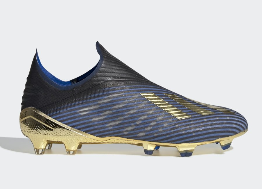 Adidas X 19+ FG Input Code - Core Black / Gold Met / Football Blue #Adidasfootball #footballboots #adidassoccer