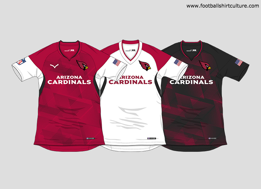 "Arizona Cardinals ""NFL to Soccer"" Football Kit Concept #ArizonaCardinals #NFL #AZCardinals"