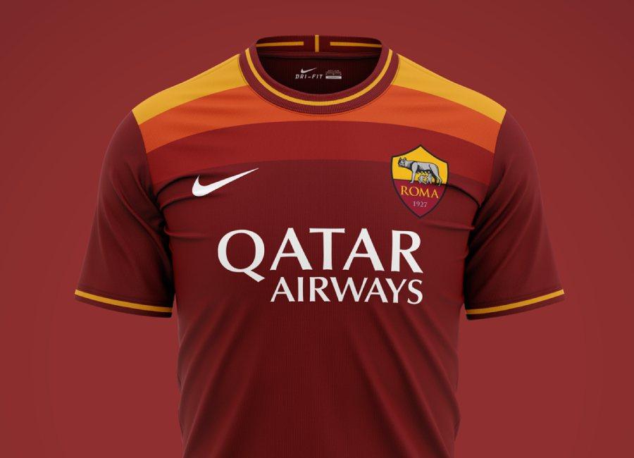 AS Roma 2020-21 Home Kit Prediction   Kit design   Football shirt blog