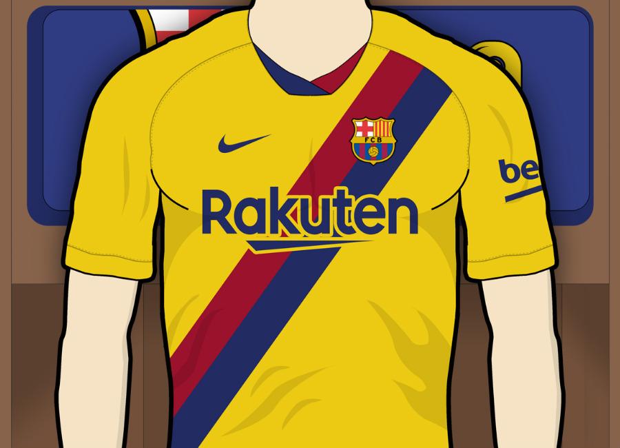 new style 5b756 2d90d Barcelona 2019-20 Away Kit Prediction | Kit design ...