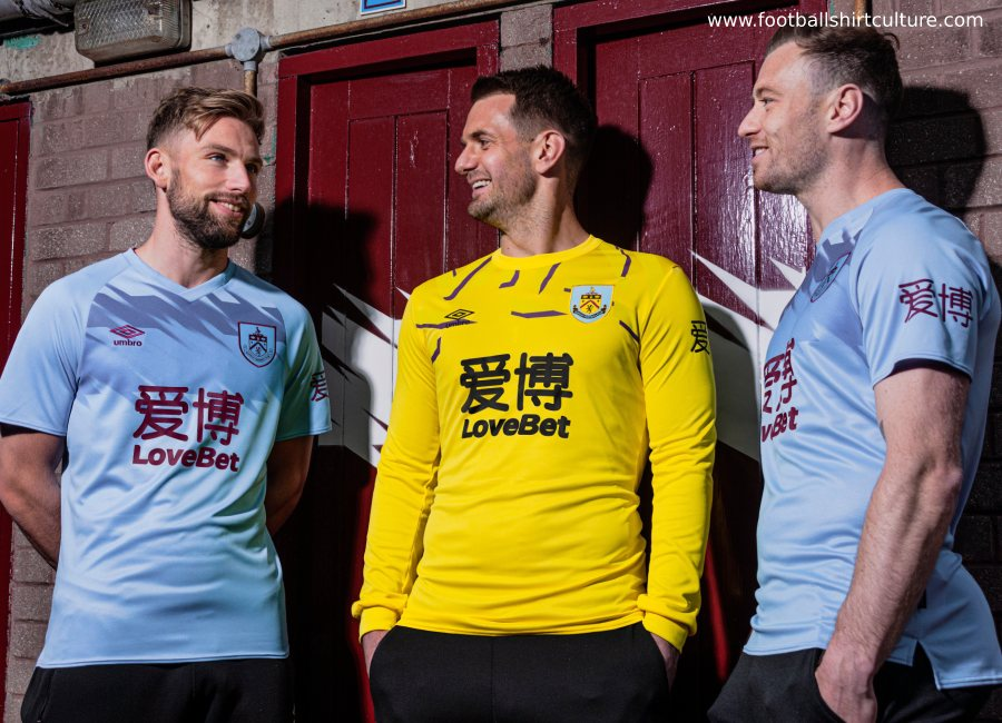 Burnley 2019-20 Umbro Away Kit #BurnleyFC #footballshirt #umbro