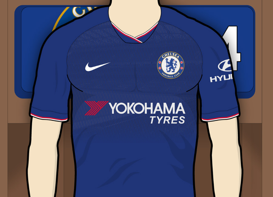 watch b55b6 8c86b Chelsea 2019-20 Home Kit Prediction | Kit design | Football ...