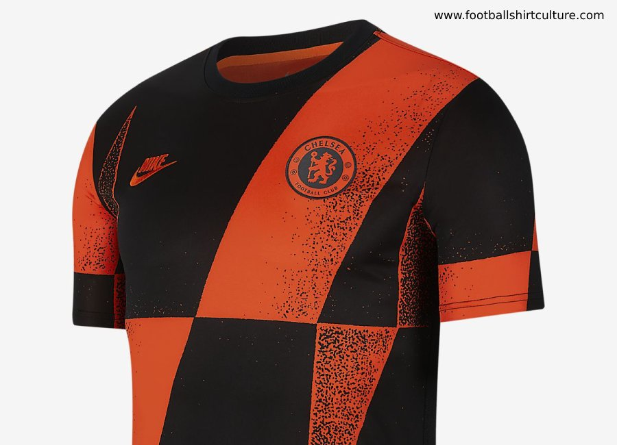 Chelsea Football Top - Rush Orange / Black / Rush Orange #Chelsea #chelseafc #nikefootball
