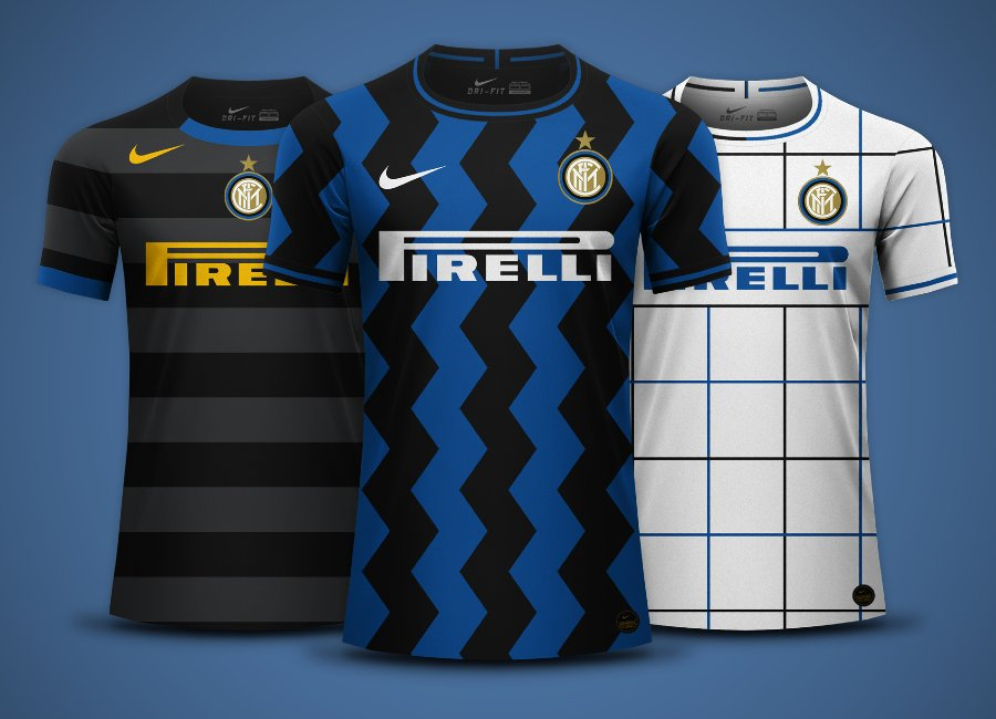 Inter Milan 2020-21 Home, Away and Third Kit Predictions #inter ##intermilan #fcinter
