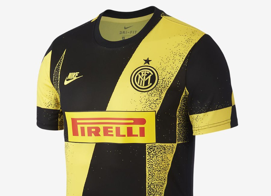 Inter Milan Football Top - Tour Yellow / Black #InterMilan #fcinter #nikefootball
