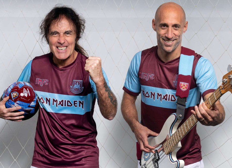 Iron Maiden x West Ham United Home Shirt #whufc #westham #westhamunited #ironmaiden
