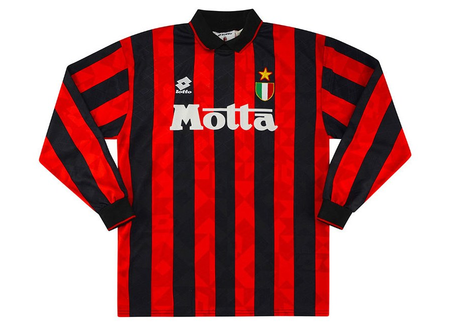 Lotto 1993-94 AC Milan Match Issue Home Shirt #acmilan #matchworn #forzamilan