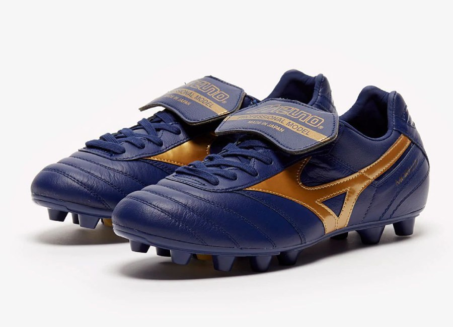 Mizuno Morelia II FG Made In Japan - Blue Depths / Gold #mizunofootball #footballboots