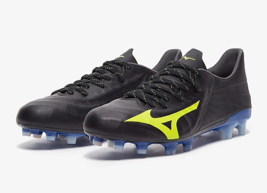 Mizuno Rebula 3 Made In Japan FG - Black / Safety Yellow #Mizuno #Mizunofootball #footballboots