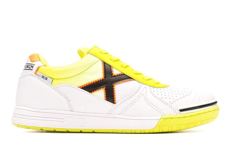 Munich G3 Shoes - White / Fluor Yellow #futsal