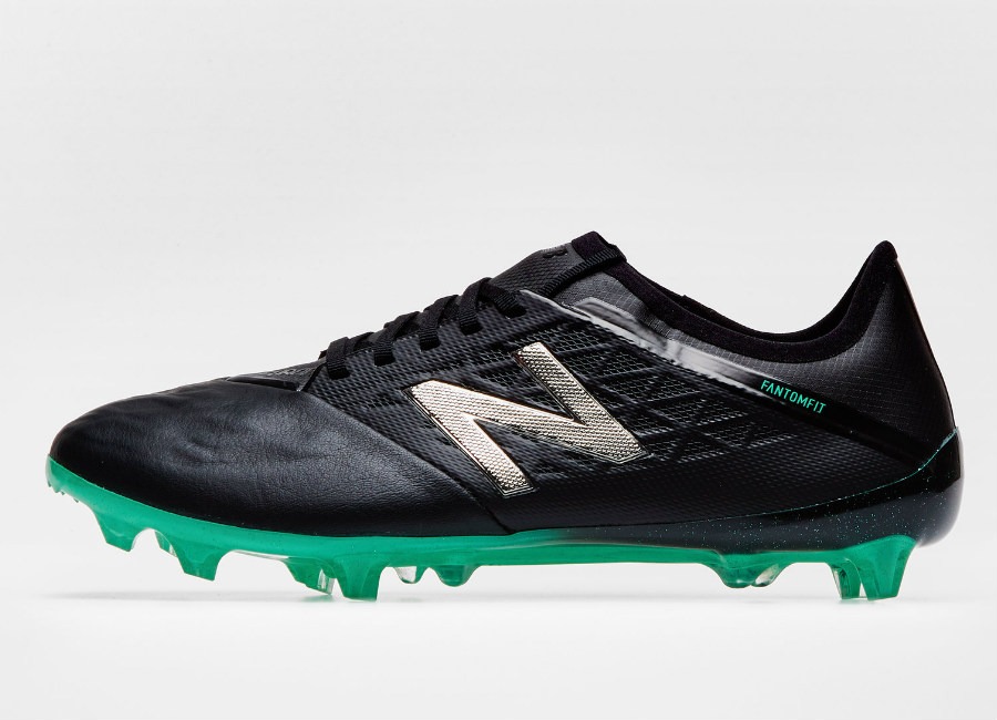New Balance Furon V5 Pro FG Leather - Black / Green #nbfootball #footballboots