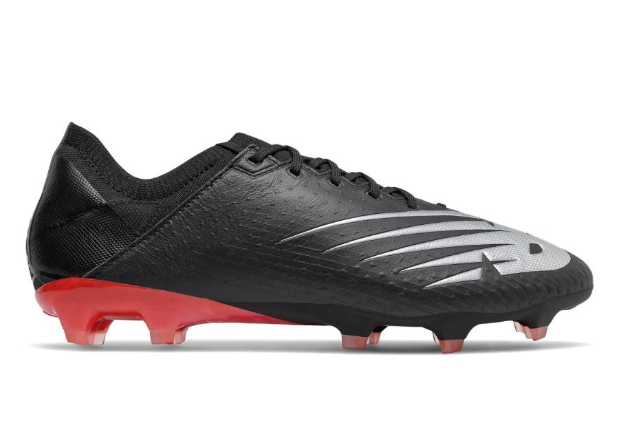 New Balance Furon v6 Pro Leather FG - Black / Neo Flame / Neo Crimson #nbfootball #footballboots