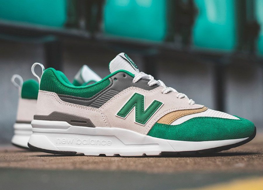 New Balance X Celtic 997 Trainer - Jolly Green / Munsell White #celticfc #celtic #nbfootball