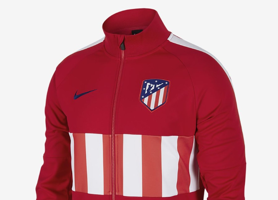 Nike Atlético de Madrid 19/20 Jacket - Sport Red / White / White / Deep Royal Blue #atleti #AtléticoMadrid #nikefootball