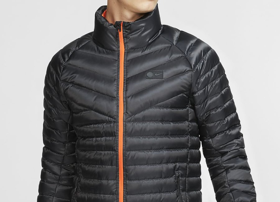 Nike Chelsea FC Down Jacket - Black / Rush Orange #chelseafc #Chelsea #nikefootball