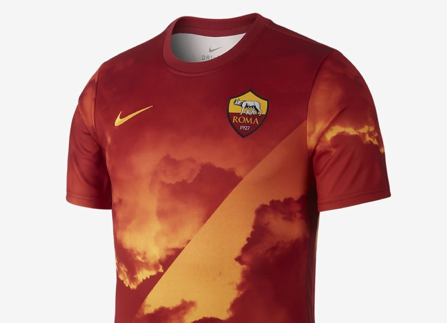 Nike Dri-FIT A.S. Roma Football Top - University Gold / Team Crimson / University Gold #ASRoma #ForzaRoma #nikefootball