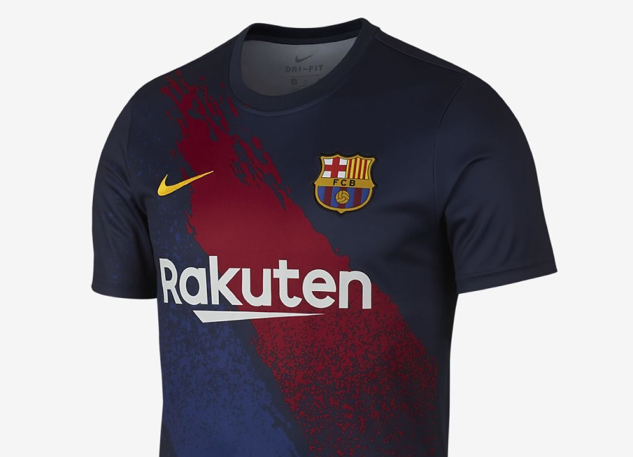Nike Dri-FIT FC Barcelona Football Top - Dark Obsidian / Dark Obsidian / Varsity Maize #barca #fcbarcelona #nikefootball
