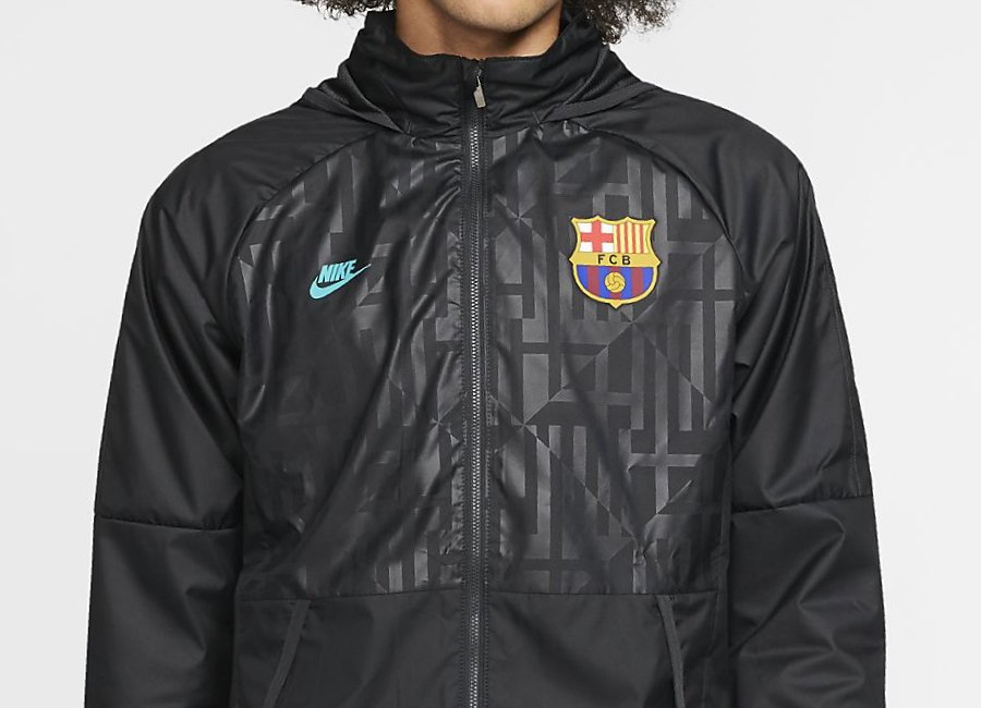 Nike FC Barcelona Football Jacket - Dark Smoke Grey / Cabana #barca #fcbarcelona #nikefootball