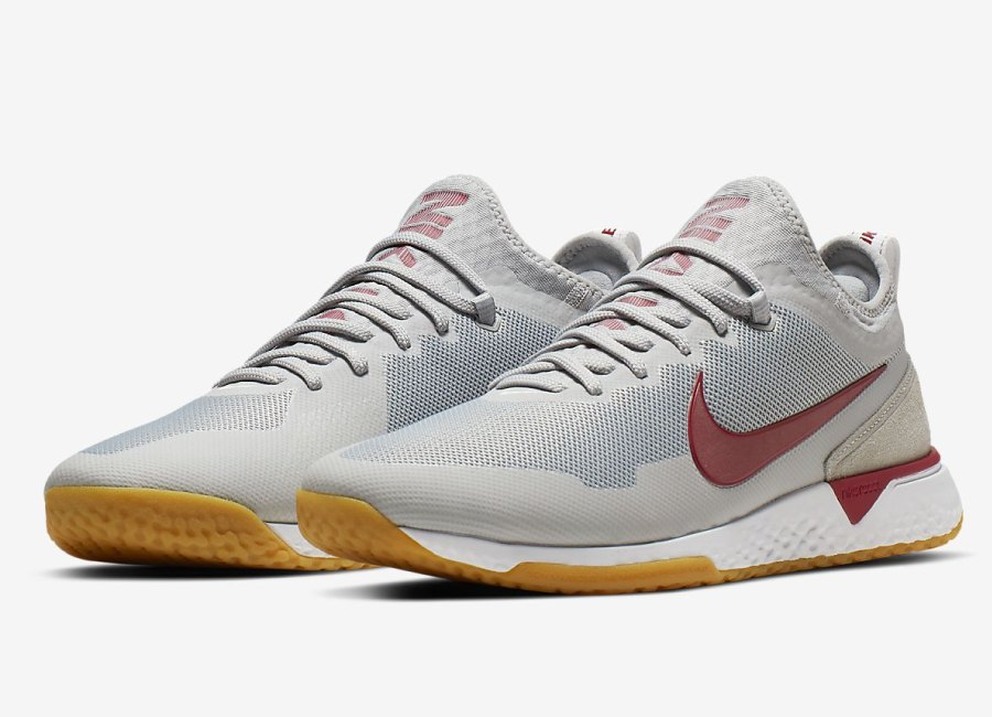 Nike F.C. React - Wolf Grey / White / Gum Light Brown / Noble Red #nikefootball #nikesoccer