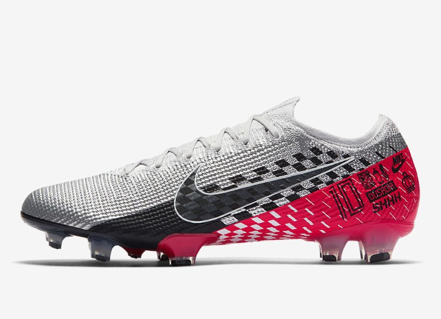 Nike Mercurial Vapor 13 Elite Neymar Jr. FG - Chrome / Red Orbit / Platinum Tint / Black #nikefootball #nikesoccer #neymar