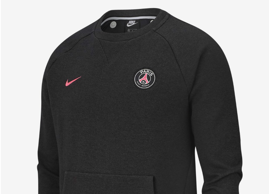 Nike Paris Saint-Germain Crew - Black / Anthracite / Hyper Pink