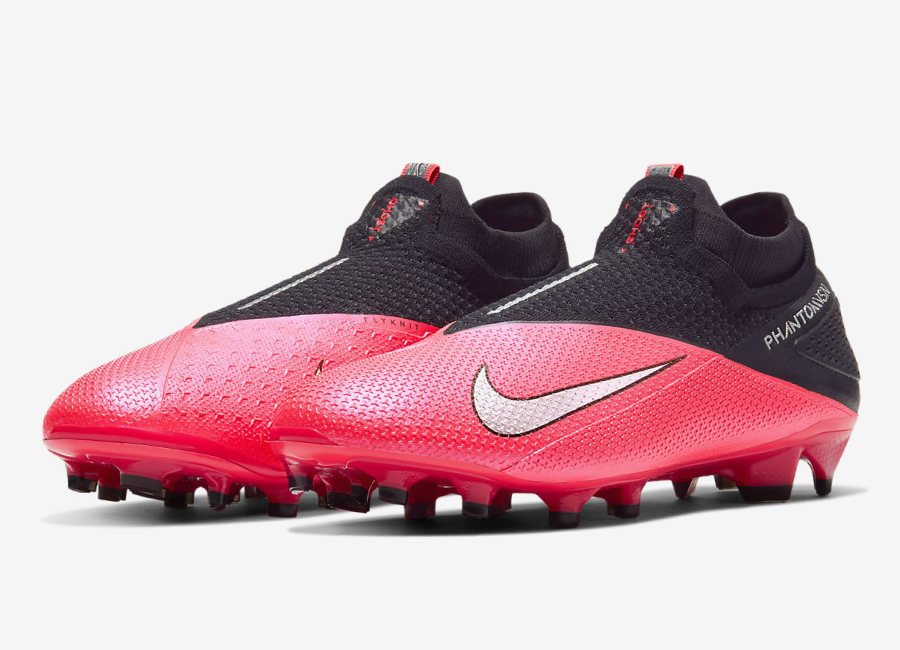 Nike Phantom Vision 2 Elite DF FG Future Lab - Laser Crimson / Black / Metallic Silver #nikefootball #footballboots