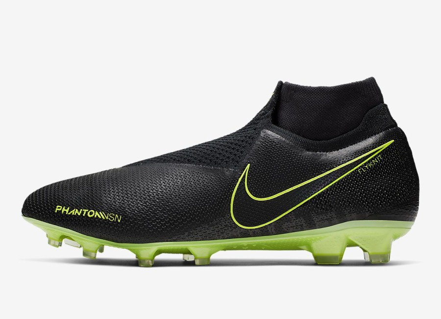 Nike Phantom Vision Elite DF FG Under The Radar - Black / Volt / Black #nikefootball #nikesoccer