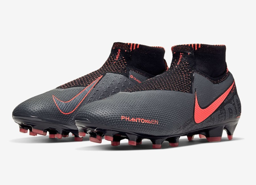 Nike Phantom Vision Elite DF FG Fire - Dark Grey / Black / Bright Mango #nikefootall #footballboots