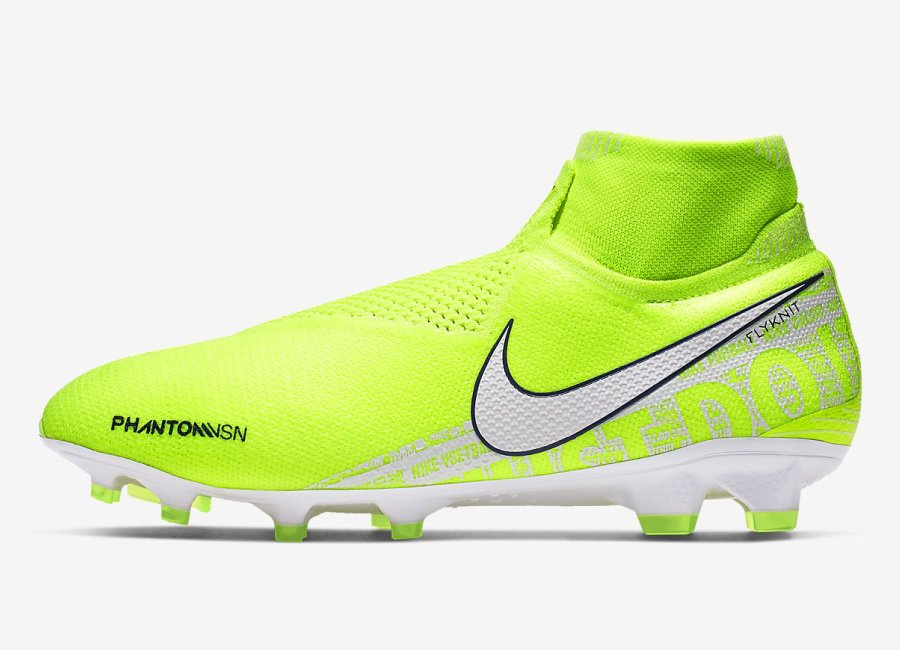 Nike Phantom Vision Elite DF FG New Lights - Volt / Barely Volt / White #nikefootball #nikesoccer