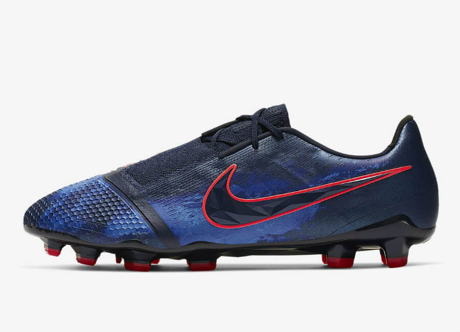Nike PhantomVNM Elite FG Fully Charged - Obsidian / Black / Racer Blue / White #nikefootball #nikesoccer #footballboots