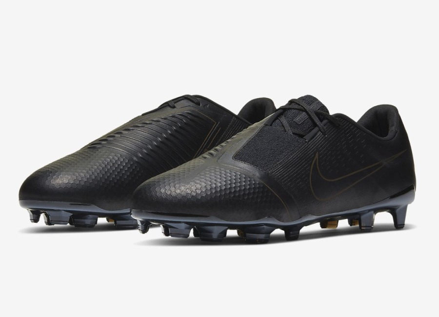 Nike PhantomVNM Elite Tech Craft FG - Black / Black / Black #nikefootball #footballboots