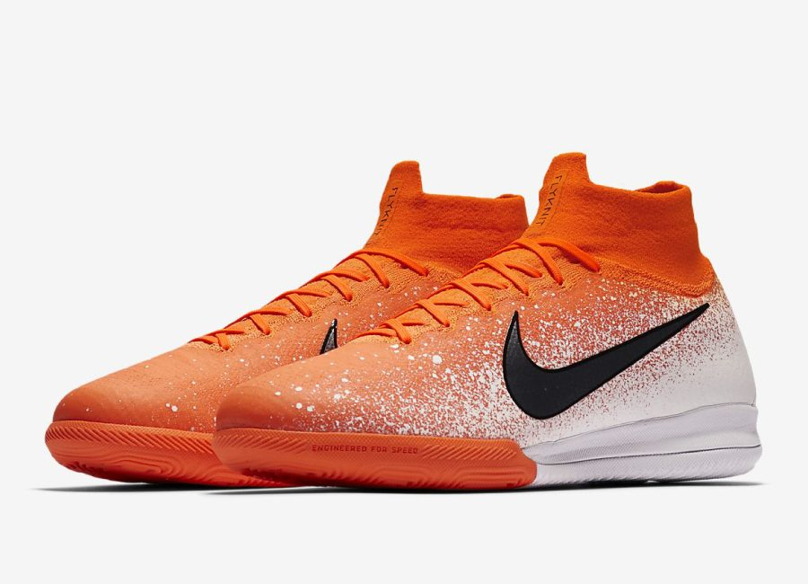 Nike SuperflyX 6 Elite IC Euphoria Mode - Hyper Crimson / White / Metallic Silver / Black #futsal #nikefootball