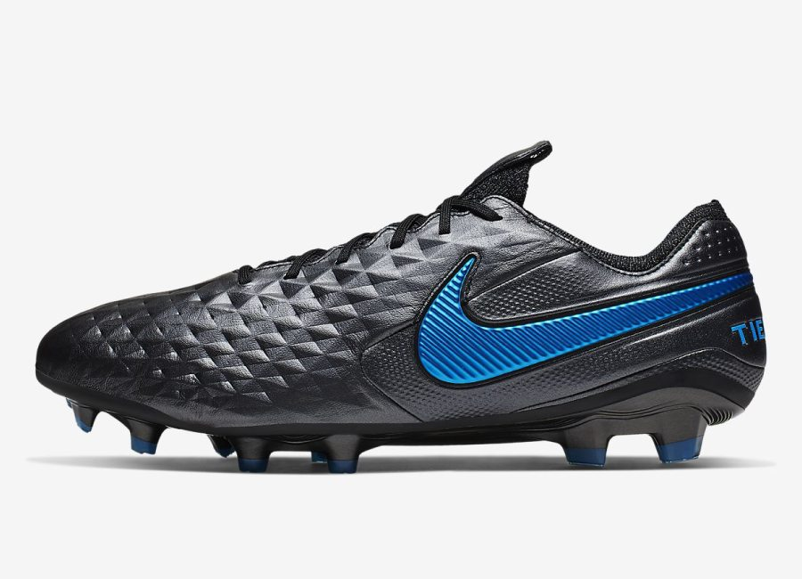 Nike Tiempo Legend 8 Elite FG - Black / Blue Hero / Black #niketiempo #nikefootball #footballboots