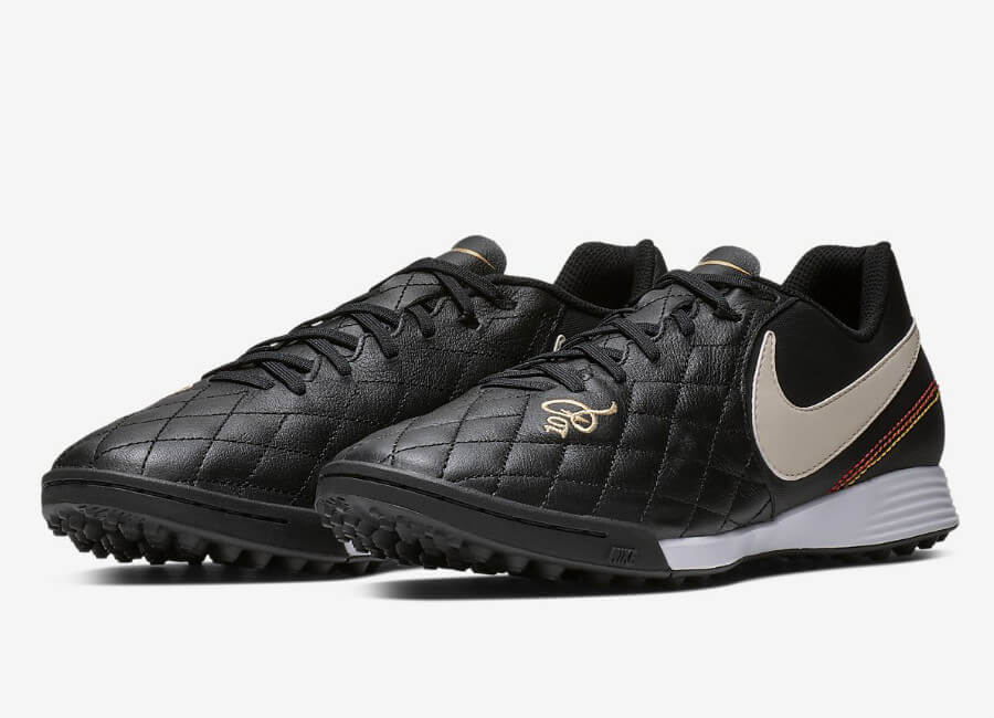 Nike TiempoX Lunar Legend VII Pro 10R TF - Black / Metallic Gold / Gum Light Brown / Light Orewood Brown #nikefootball #nikesoccer