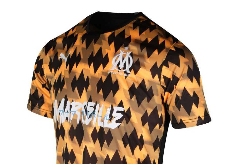 Olympique de Marseille 2019 Puma Influence Jersey - Orange / Black #OlympiqueMarseille #TeamOM