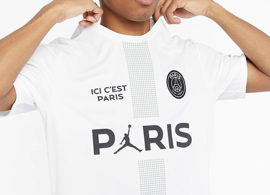 Paris Saint Germain 2019 Jordan Poly Replica Top White Light
