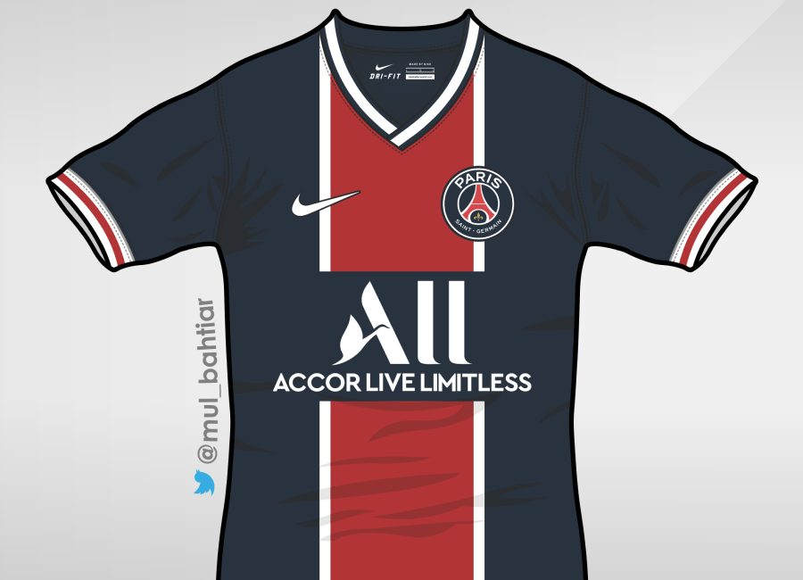 Paris Saint-Germain 2020-21 Home Kit Prediction #psg #ParisSaintGermain #teampsg