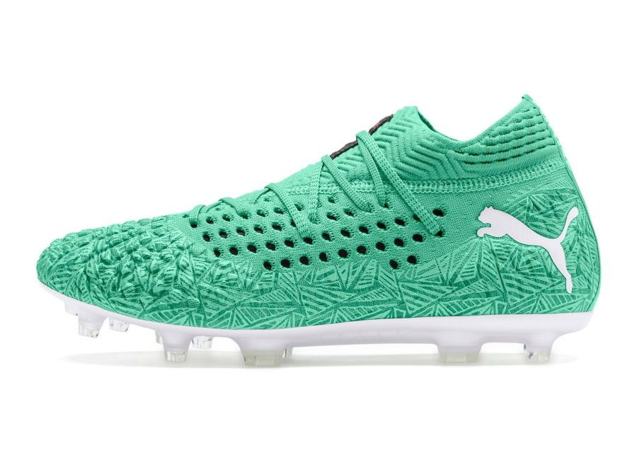 Puma Future 4.1 Netfit FG/AG Winterized - Green / Puma White #pumafootball #footballboots