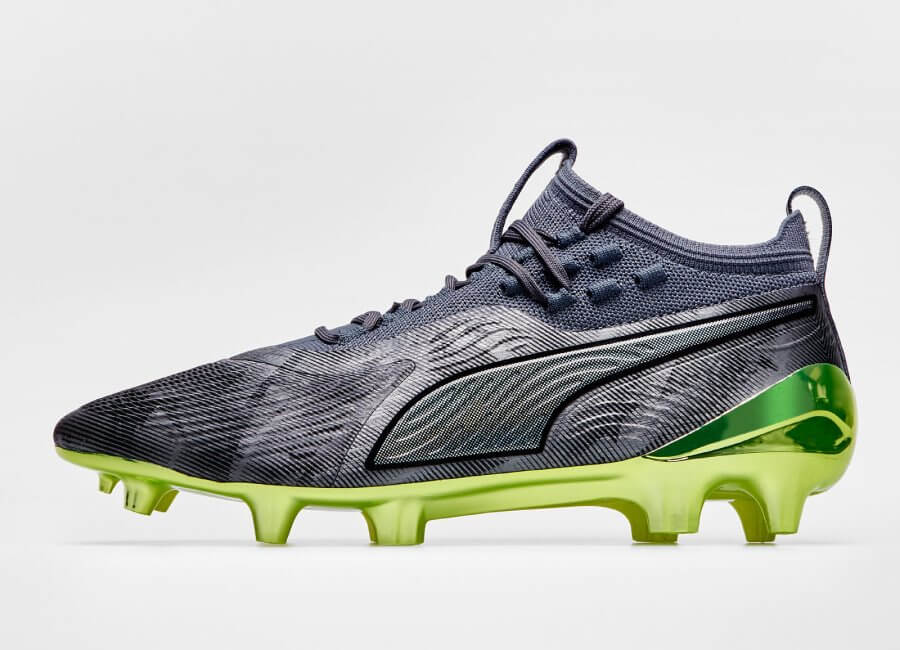 Puma One 19.1 Syn Ltd Edition FG/AG Alter Reality - Aged Silver / Charcoal Grey / Fizzy Yellow #football boots #pumafootball