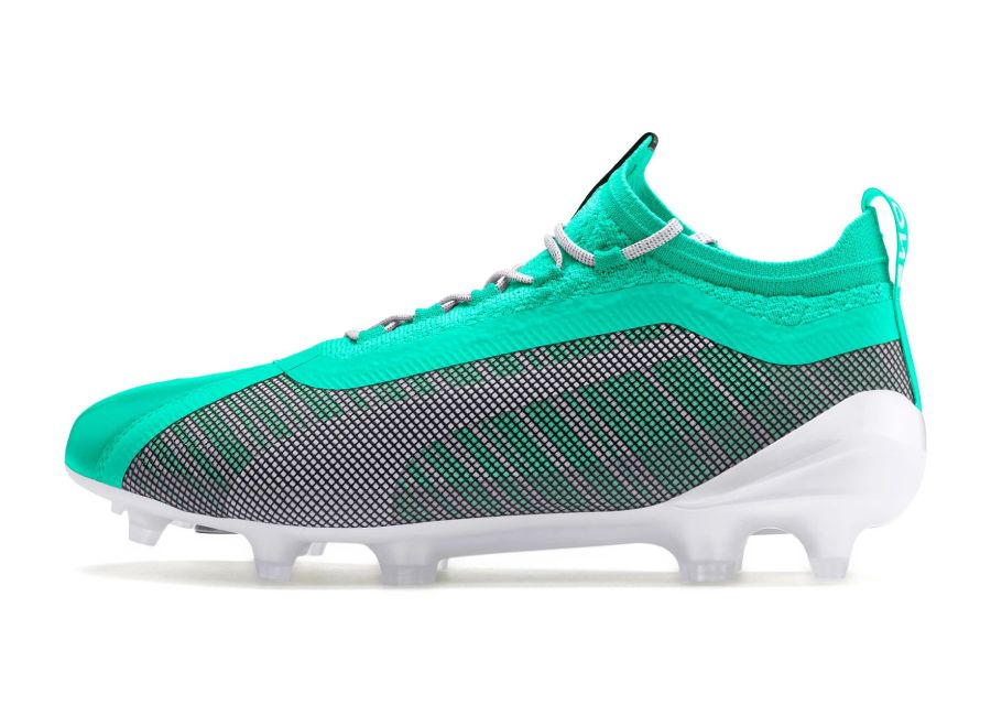 Puma One 5.1 FG/AG Winterized - Green / Puma White #pumafootball #footballboots