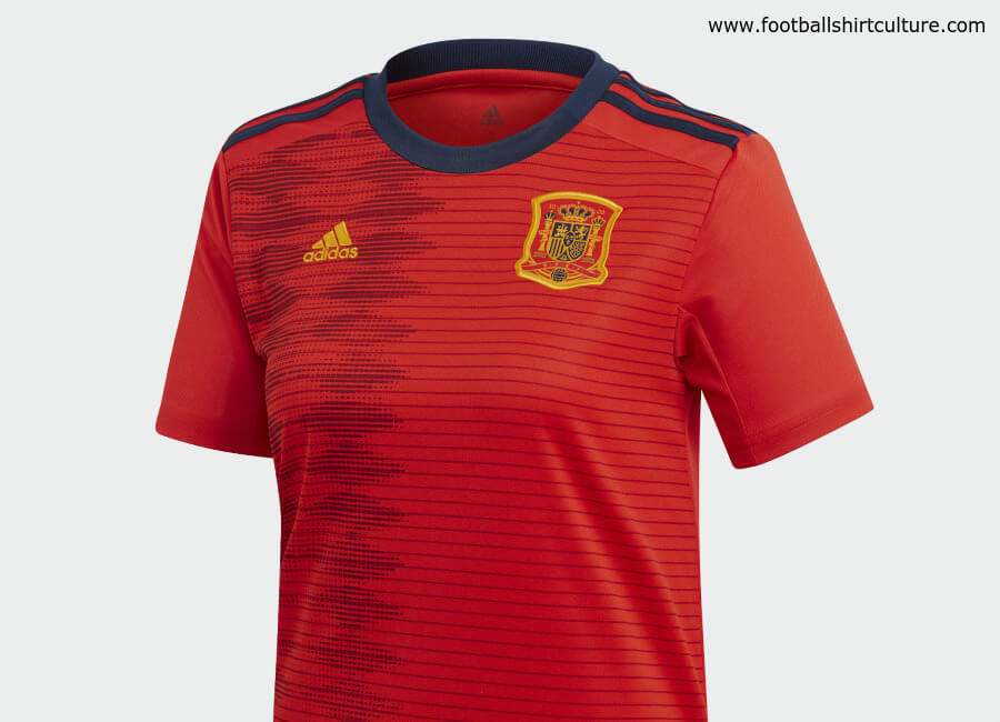 Spain 2019 Women's World Cup Adidas Home Kit #adidasfutbol #adidasfootball #adidassoccer #footballshirt